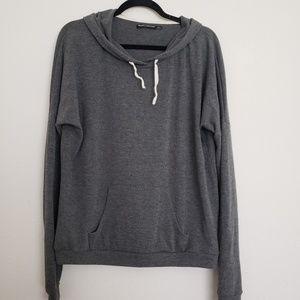 BRANDY MELVILLE Soft Grey Hooded Sweatshirt